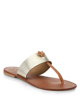 nice-metallic-leather-thong-sandals by joie