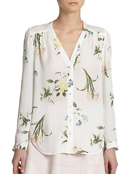 yvetta-silk-botanical-print-top by joie