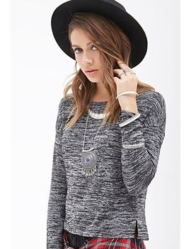 long-sleeved-marled-top by forever-21
