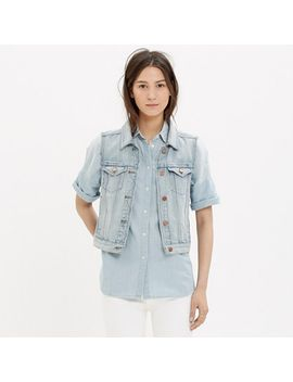 the-jean-vest-in-cora-wash by madewell