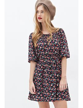 rose-print-chiffon-dress by forever-21