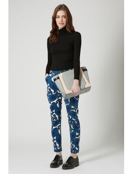 paisley-print-cigarette-trousers by topshop