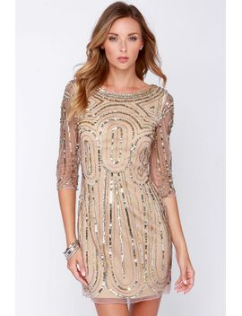 raga-so-spectacular-blush-sequin-dress by lulus
