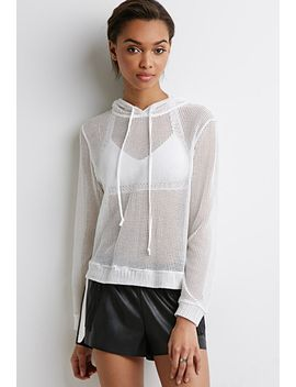 netted-mesh-hoodie by forever-21