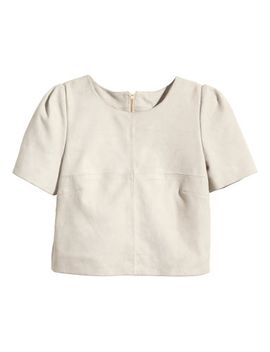 suede-top by h&m