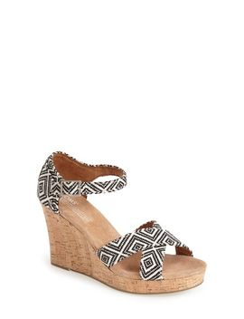 canvas-woven-geometric-print-wedge-sandal by toms