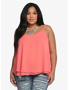 double-layered-chiffon-cami by torrid
