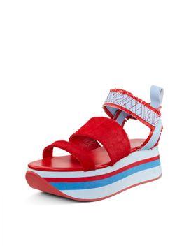 vera-haircalf-platform-sandal by dkny