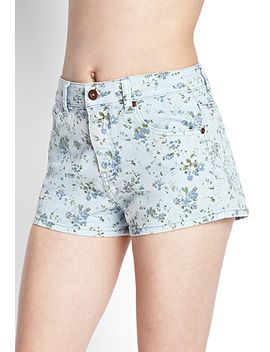 wildflower-denim-shorts by forever-21
