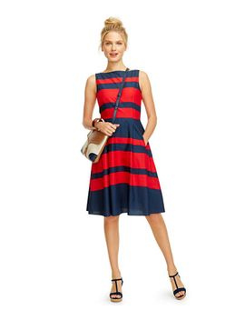 signature-poplin-dress,-stripe by llbean