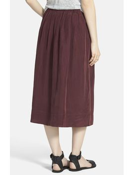 sunset-silk-midi-skirt by madewell
