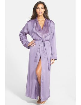 plush-lined-satin-robe by donna-karan