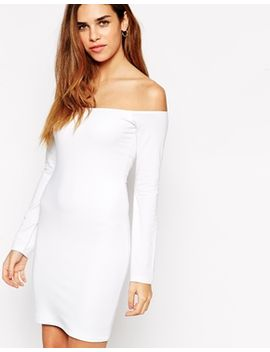 asos-long-sleeve-mini-bardot-bodycon-dress by asos-collection