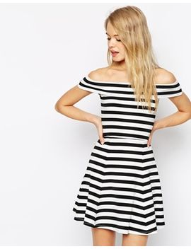 asos-bardot-skater-dress-in-stripe by asos