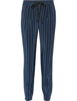 pinstriped-silk-crepe-de-chine-tapered-pants by tibi