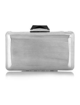 espey-silver-tone-box-clutch by kotur