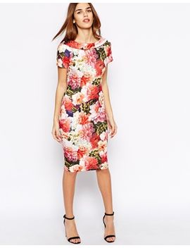 paper-dolls-pencil-dress-in-large-bloom by paper-dolls