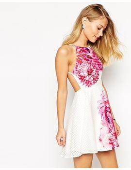 ginger-fizz-mondo-bloom-print-dress-in-gingham by ginger-fizz