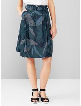 tropical-paperbag-waist-skirt by gap