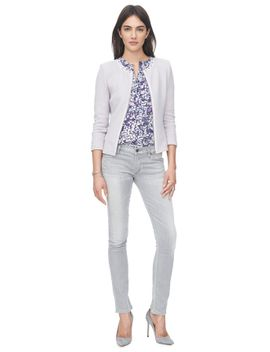 dot-jacquard-fitted-jacket by rebecca-taylor