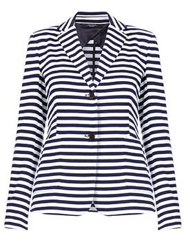 striped-button-jersey-jacket-with-pockets by weekend-max-mara