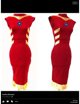 iron-man-inspired-dress--made-to-measure--cosplay-or-special-occasion--arc-reactor-detailing by kookeeboutique