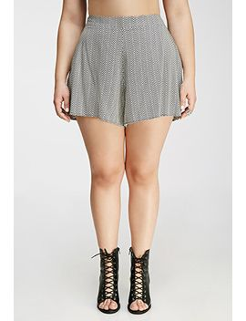 abstract-chevron-print-shorts by forever-21