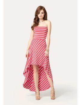 striped-hi-lo-dress by bebe