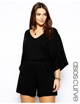 asos-curve-exclusive-playsuit-with-kimono-sleeve by asos-curve