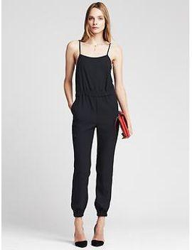 navy-drapey-jumpsuit by banana-repbulic