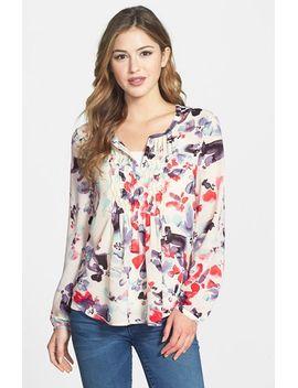 watercolor-print-peasant-blouse by sanctuary