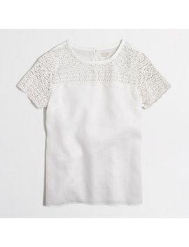 linen-lace-t-shirt by jcrew