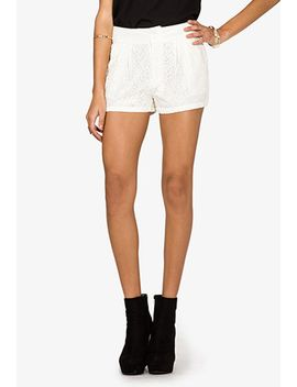 sweet-floral-lace-shorts by forever-21