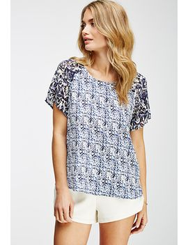 mixed-print-top by forever-21