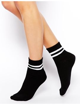 asos-2-stripe-ankle-socks by asos-collection