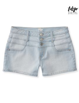 tokyo-darling-high-waisted-light-wash-denim-shorty-shorts by aeropostale
