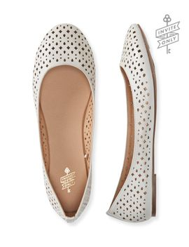 invite-only-perforated-ballet-flat by aeropostale