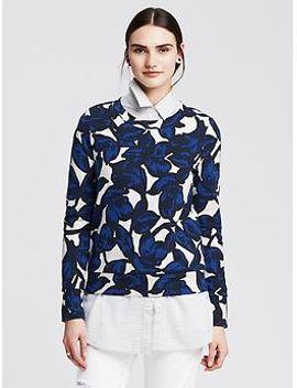 floral-ponte-sweatshirt by banana-repbulic