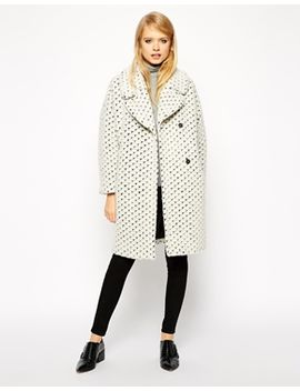 asos-coat-with-cocoon-fit-in-texture by asos-collection
