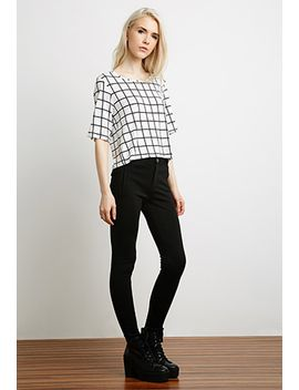 windowpane-print-top by forever-21