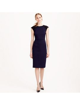 double-faced-piqué-eyelet-dress by jcrew