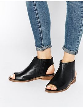 asos-aaliya-leather-peep-toe-ankle-boots by asos-collection