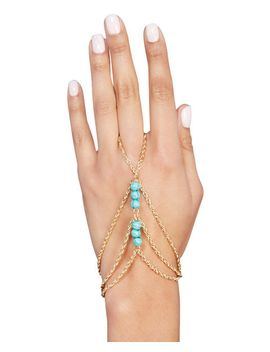 faux-turquoise-twisted-hand-chain by wet-seal