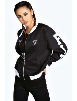 abby-slogan-bomber-jacket by boohoo