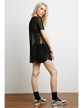 high-slit-mesh-tee by forever-21