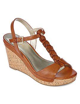 liz-claiborne®-kay-braided-wedge-sandals by liz-claiborne