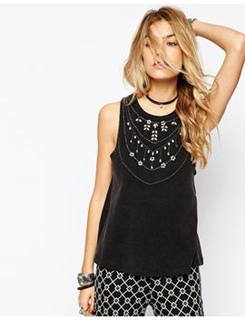 asos-vest-with-acid-wash-and-embellishment by asos