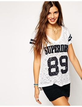 superdry-lace-t-shirt by superdry