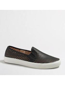 perforated-slip-on-sneakers by jcrew