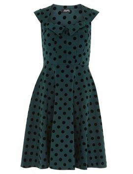 fever-fish-green-polka-dot-dress by dorothy-perkins
